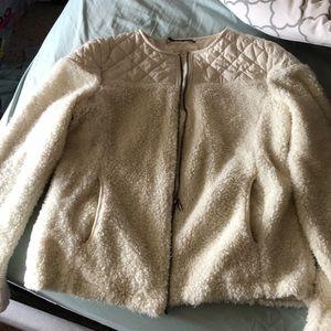 Warm faux shearling jacket!